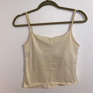 Cream Oscar De La Renta Tank Top Size Small